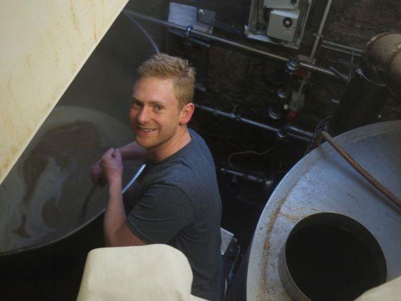 Stirring the mash
