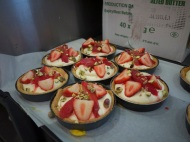 Chilled. Baked. Filled. My strawberry and pistachio tarts.