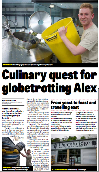 Foodish Boy in the Derbyshire Times