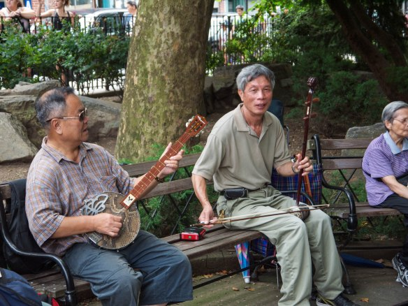 Columbus Park Music China Town New York