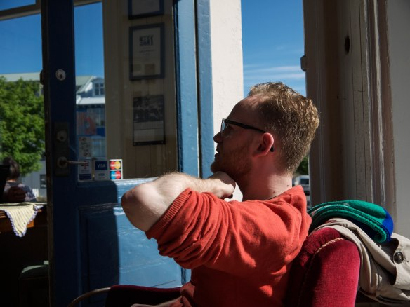 Morning coffee with Tumi at the incredible Kaffismiðjan - best coffee in town.