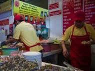 Tostadas de Coyoacán - My favourite lunch spot inside the market.